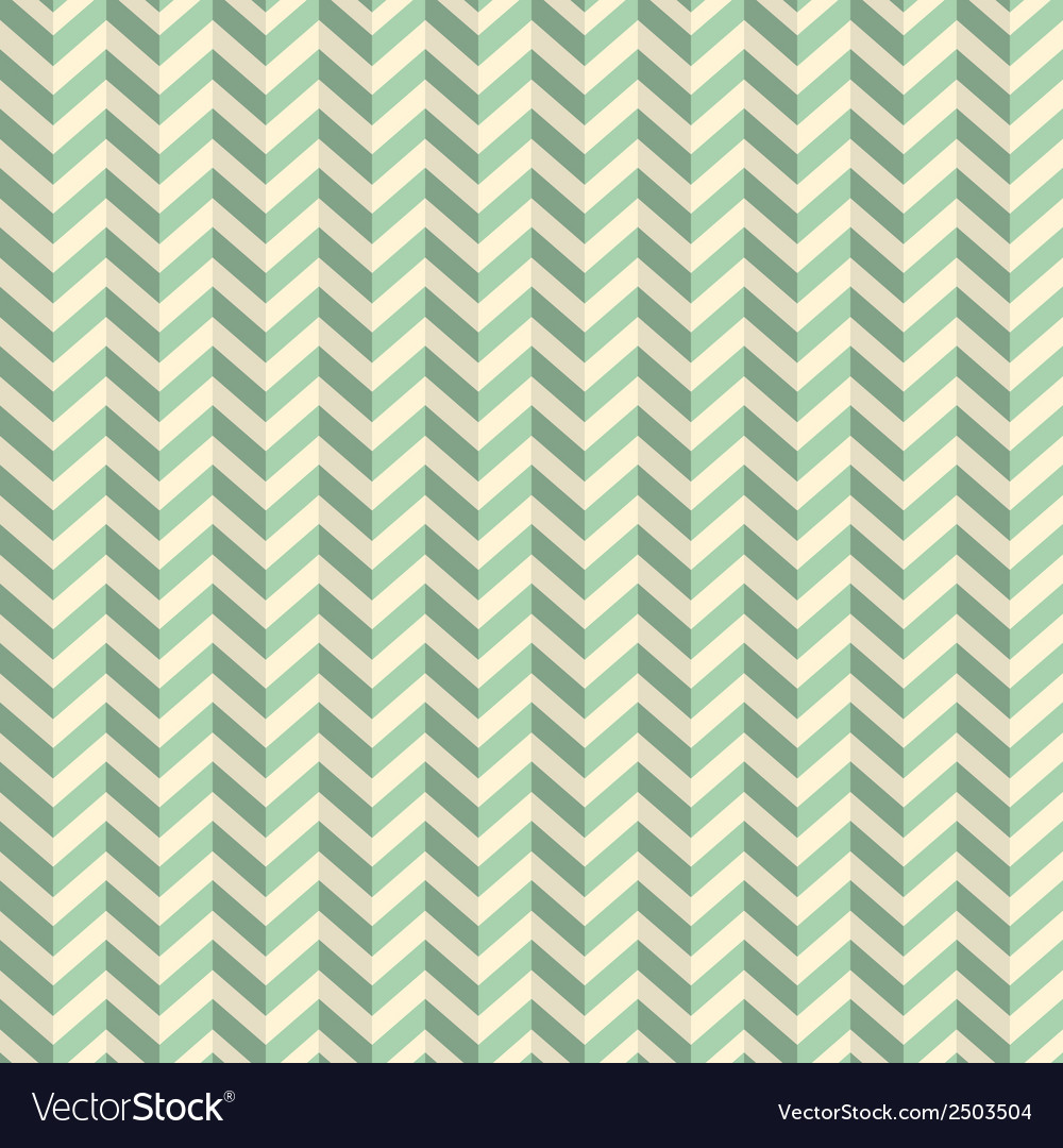 Seamless retro abstract green toothed zig zag vector | Price: 1 Credit (USD $1)