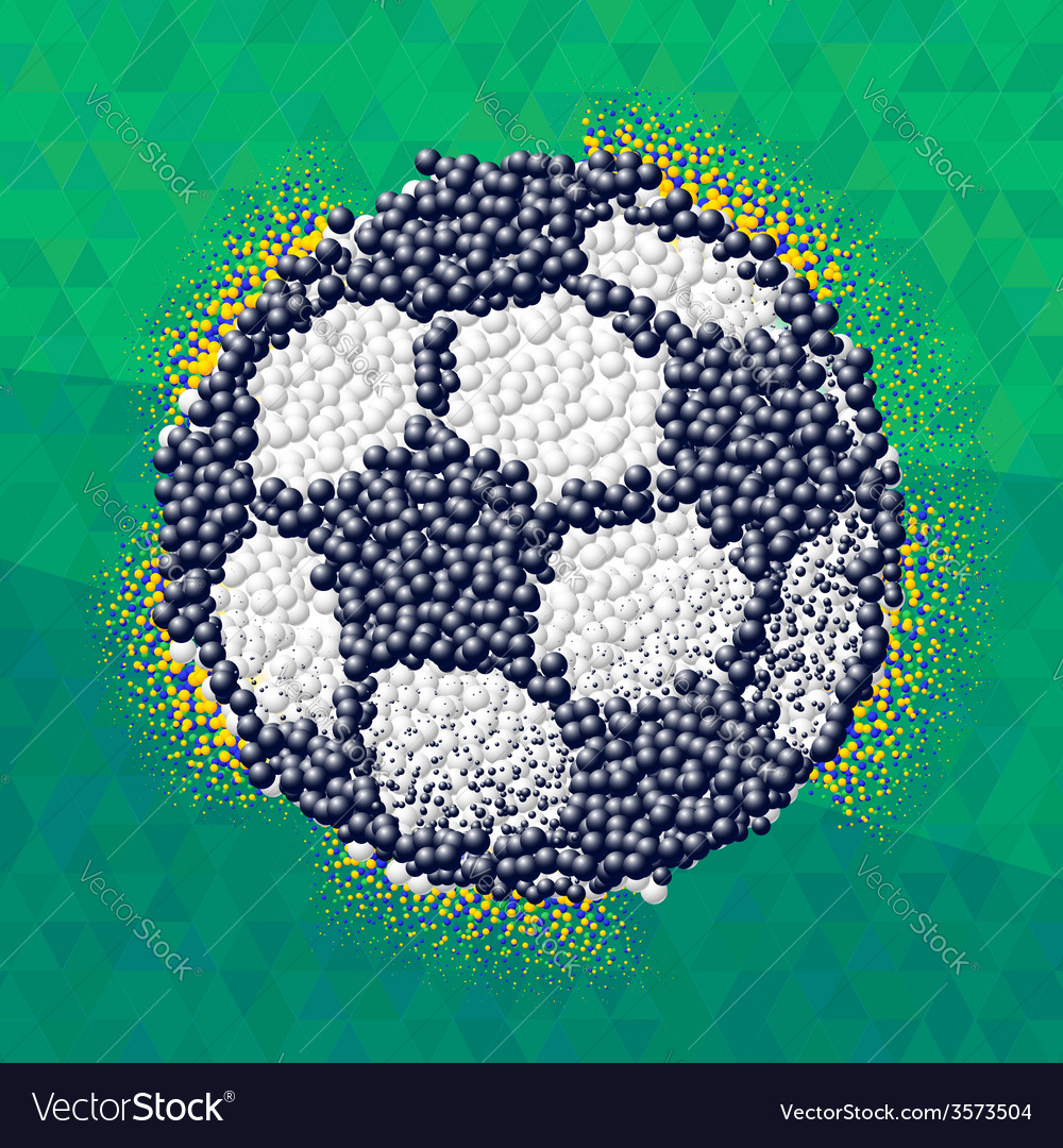 Soccer ball made of scattered 3d particles vector | Price: 1 Credit (USD $1)