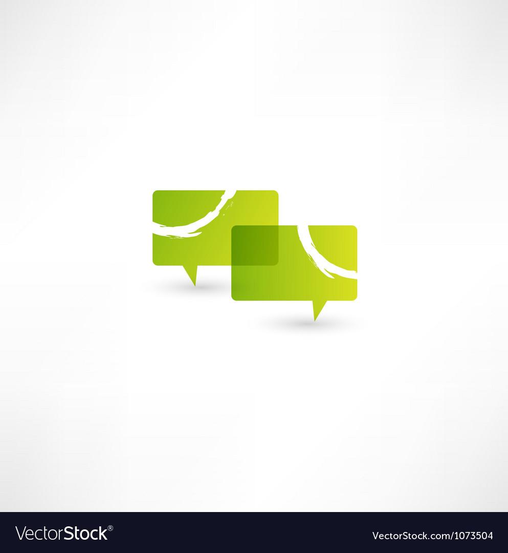 Talk concept speech bubbles icon vector | Price: 1 Credit (USD $1)