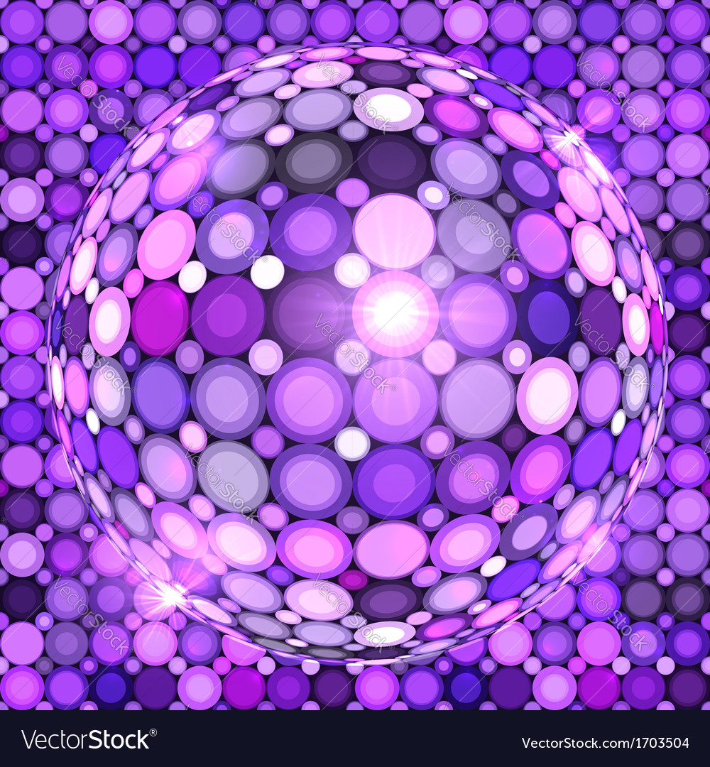 Violet shining disco ball vector | Price: 1 Credit (USD $1)