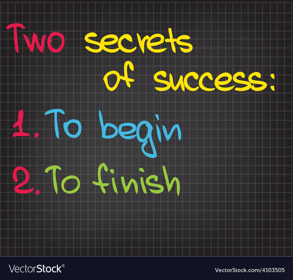 2 secrets of success vector | Price: 1 Credit (USD $1)
