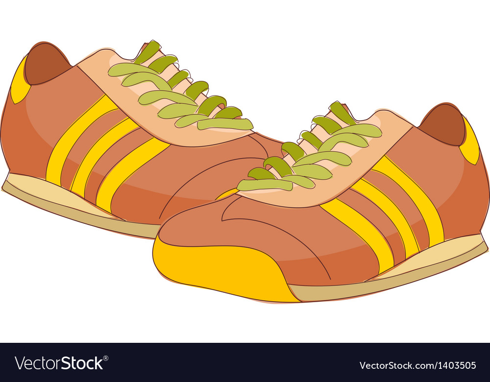 A pair of running shoes vector | Price: 1 Credit (USD $1)
