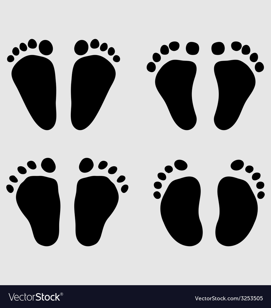 Baby feet vector | Price: 1 Credit (USD $1)