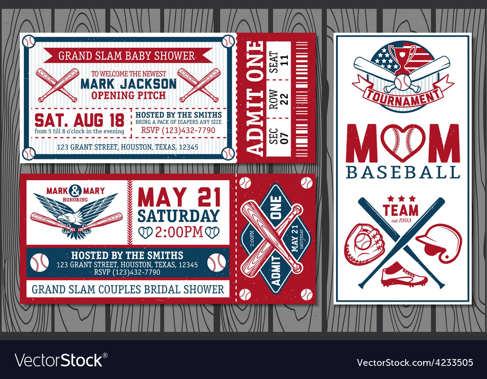 Baseball labels vector | Price: 1 Credit (USD $1)