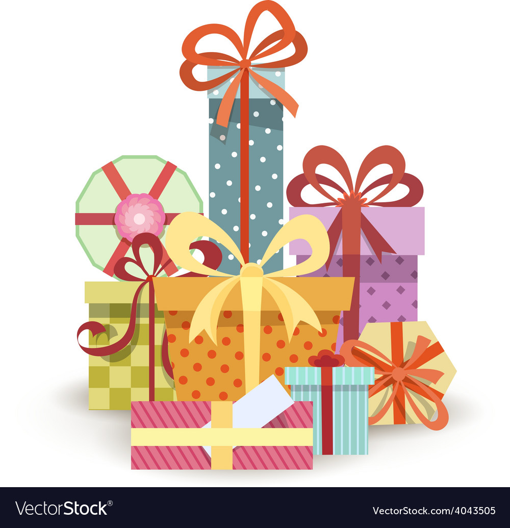Gift boxes stack vector | Price: 1 Credit (USD $1)