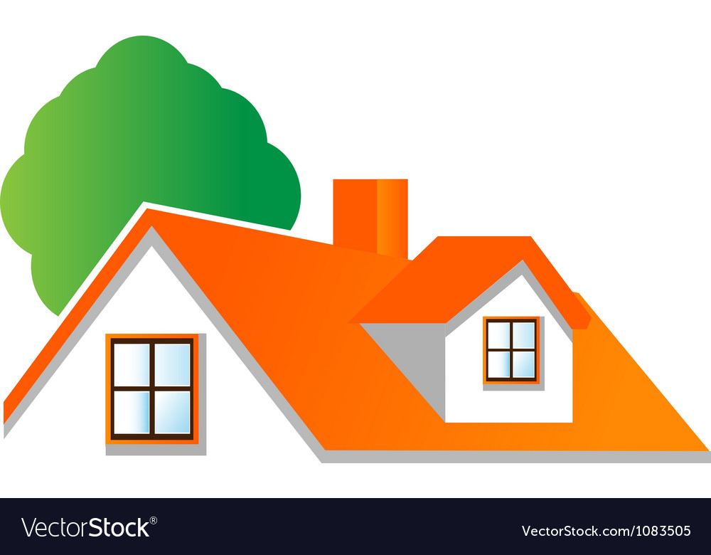 House roof logo for real estate companies vector | Price: 1 Credit (USD $1)