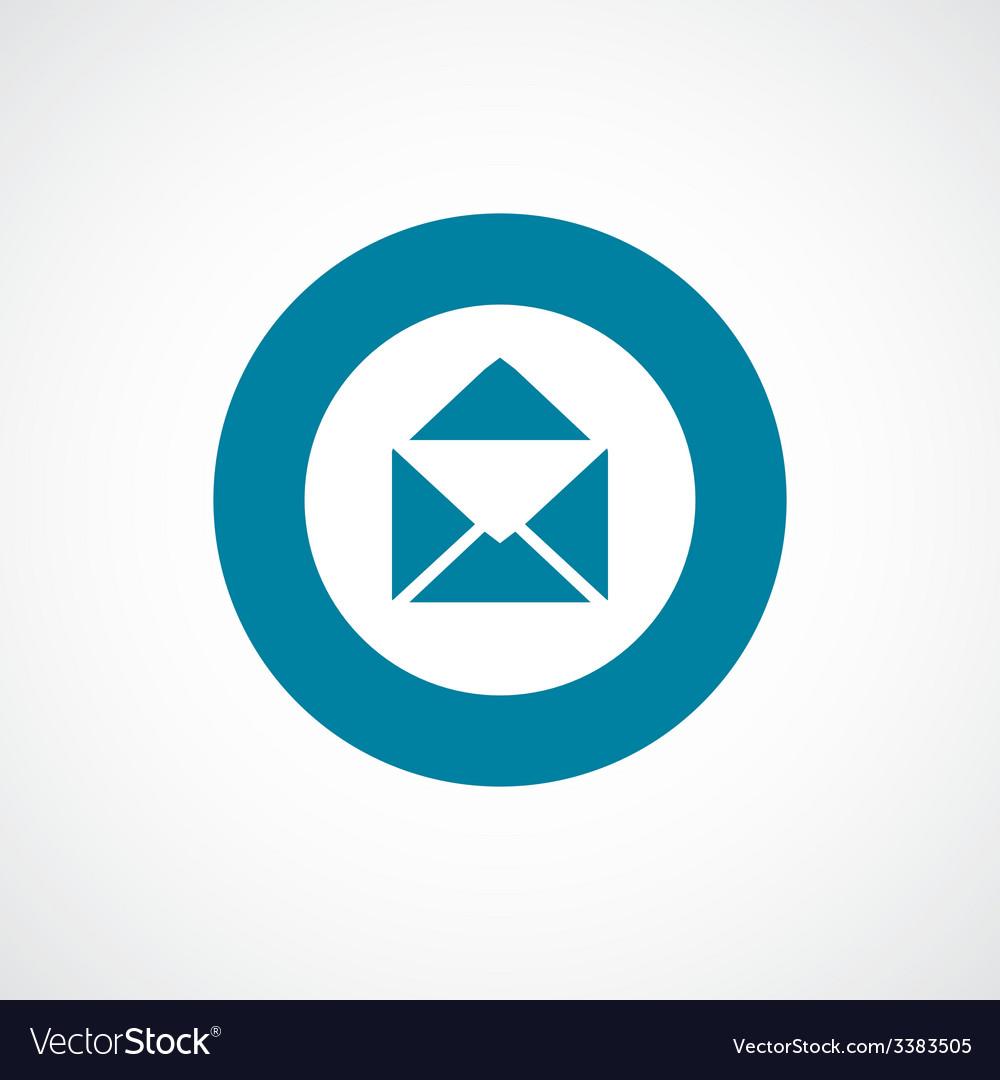 Mail bold blue border circle icon vector | Price: 1 Credit (USD $1)