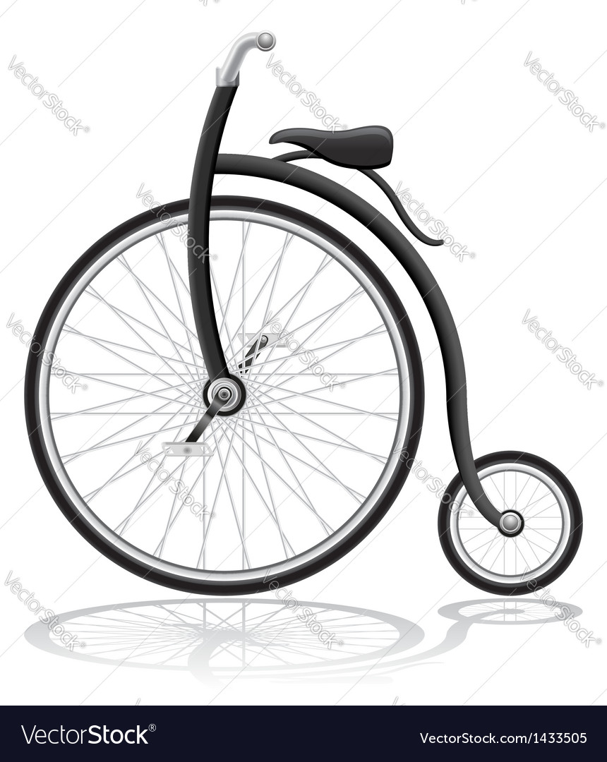 Old retro bike vector | Price: 1 Credit (USD $1)