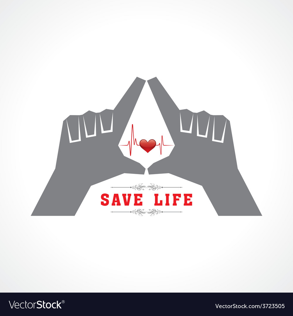 Save life concept vector | Price: 1 Credit (USD $1)