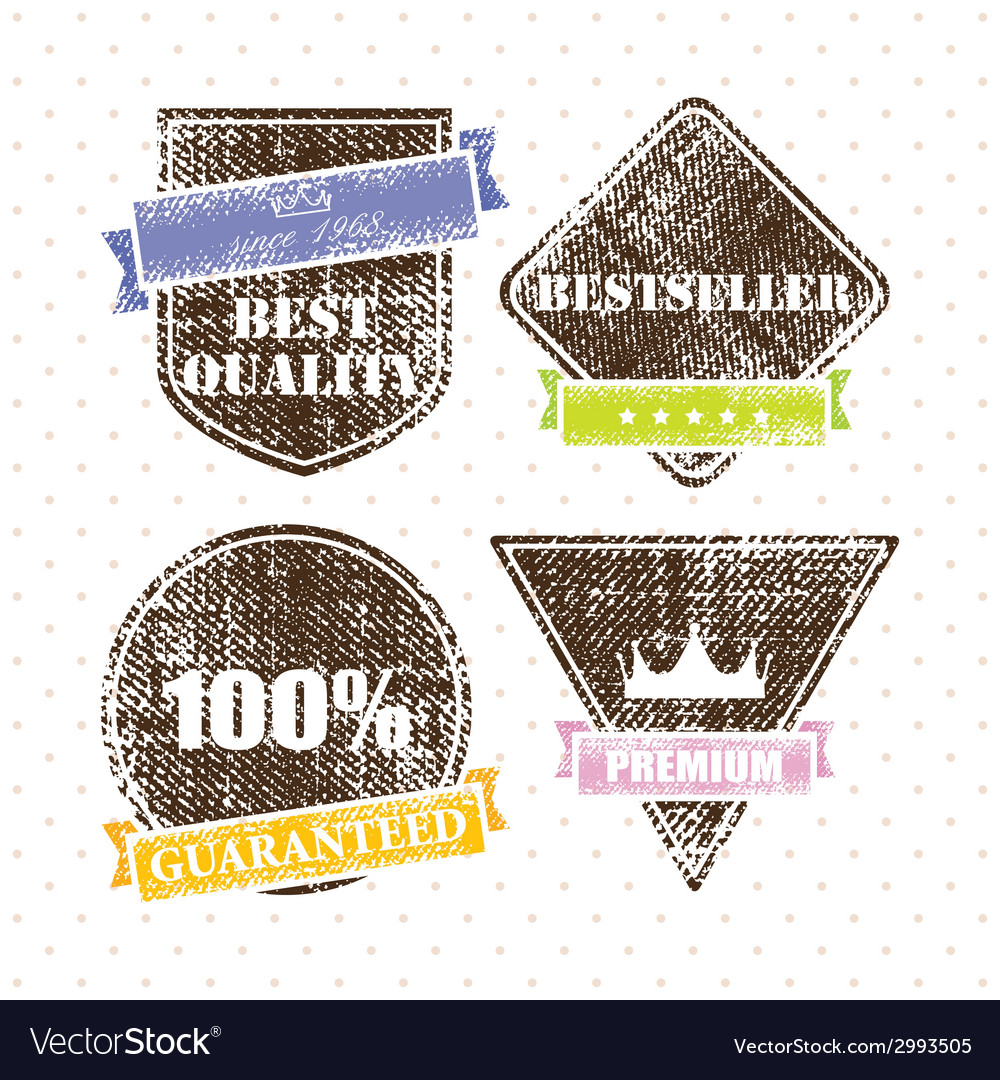 Set of retro vintage grunge labels vector | Price: 1 Credit (USD $1)
