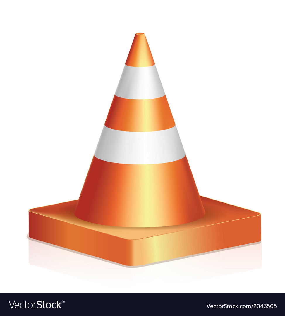 Traffic cone vector | Price: 1 Credit (USD $1)