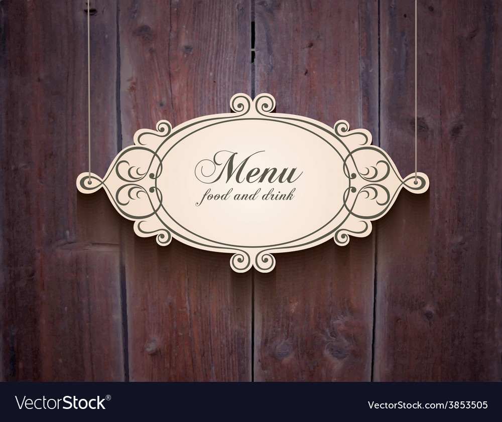 Vintage wood cover background for menu vector | Price: 1 Credit (USD $1)