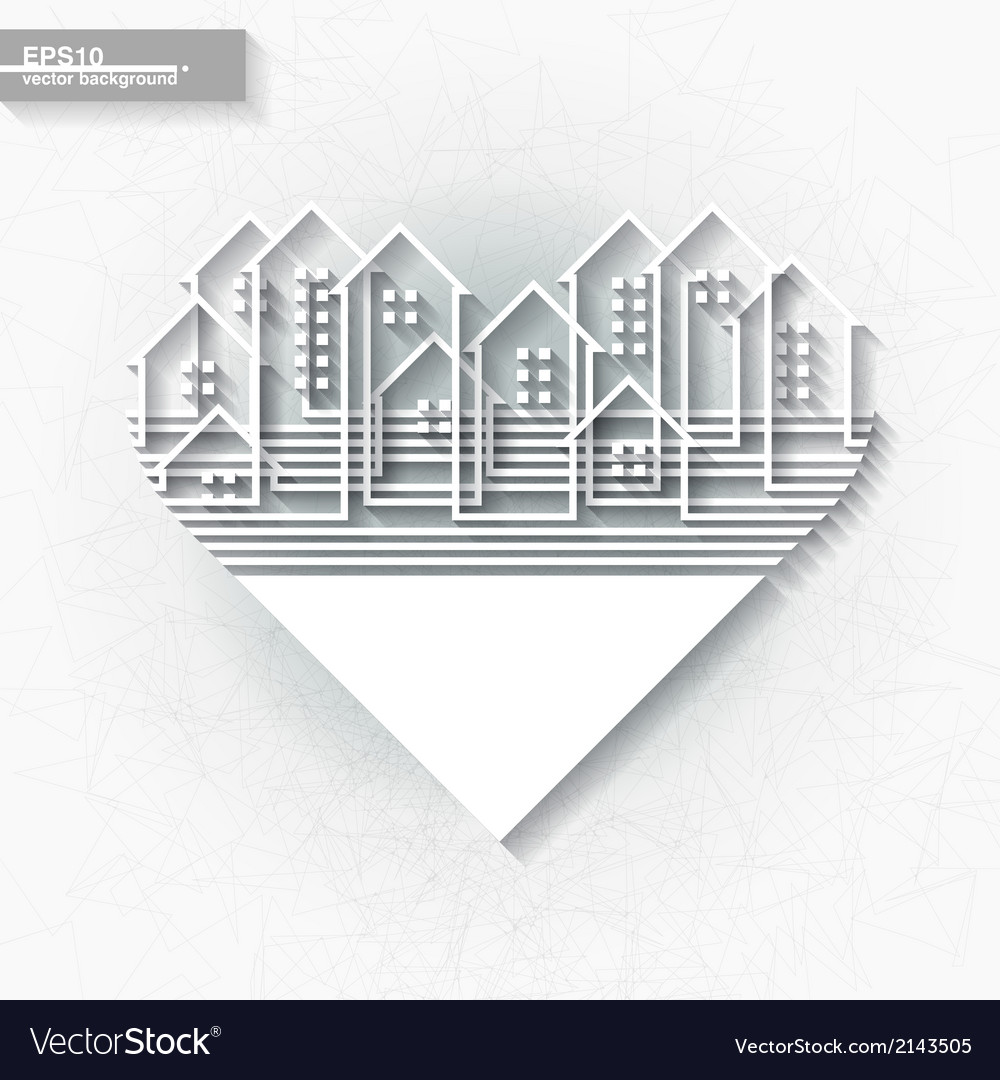 White infographic template with abstract city vector | Price: 1 Credit (USD $1)