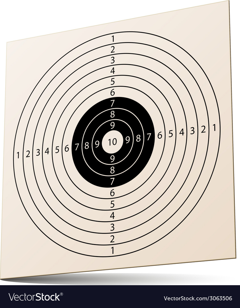 3d paper rifle target vector | Price: 1 Credit (USD $1)