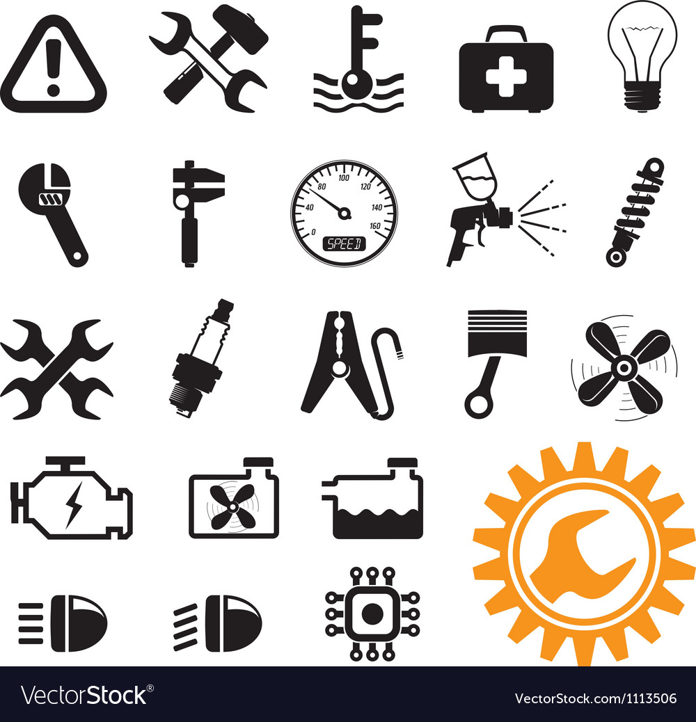 Car mechanic set vector | Price: 1 Credit (USD $1)