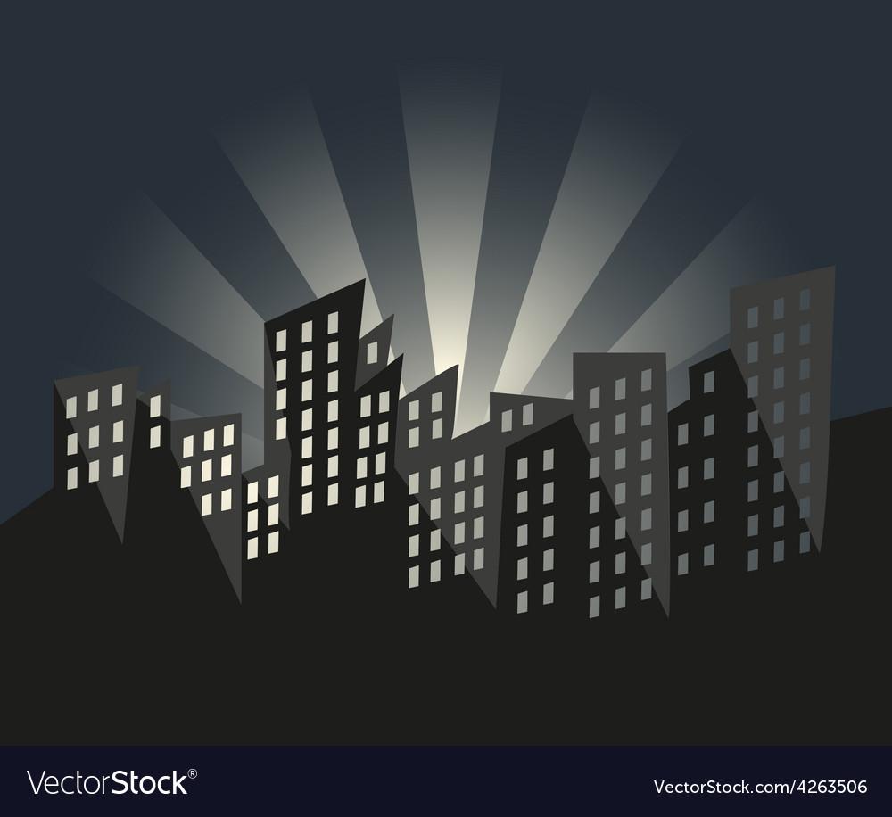 City of sunrise vector | Price: 1 Credit (USD $1)