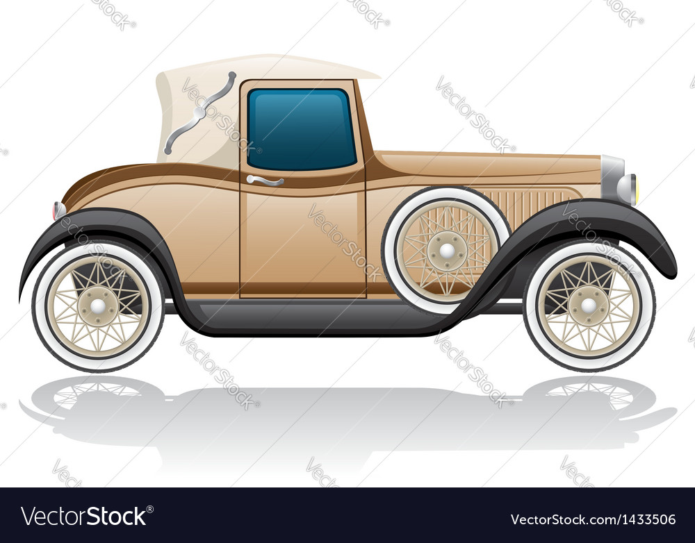 Old retro car vector | Price: 1 Credit (USD $1)