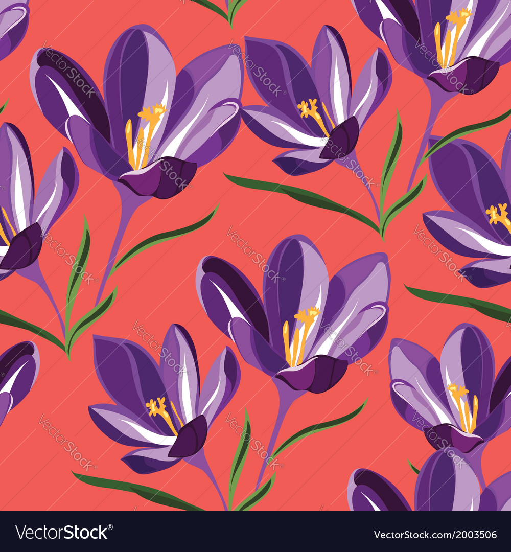 Seamless pattern for design with spring flowers vector | Price: 1 Credit (USD $1)