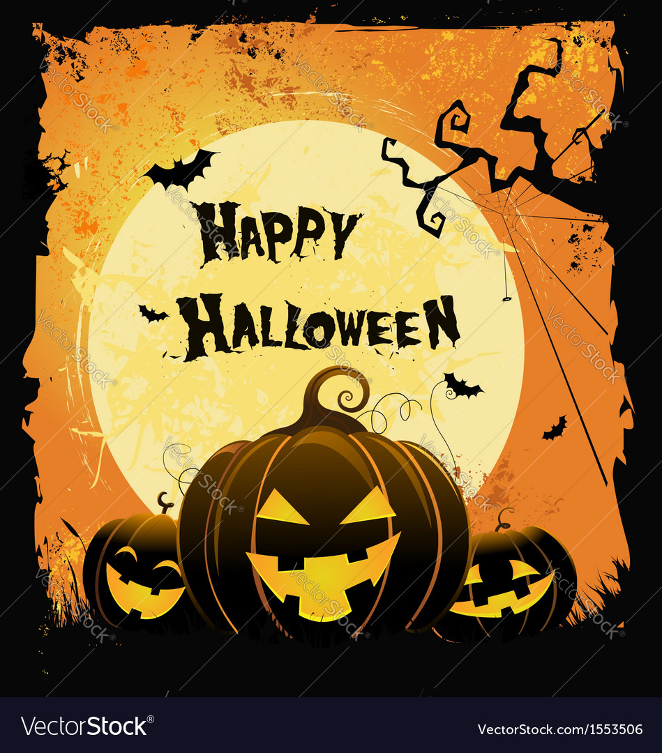 Spooky halloween card vector | Price: 1 Credit (USD $1)