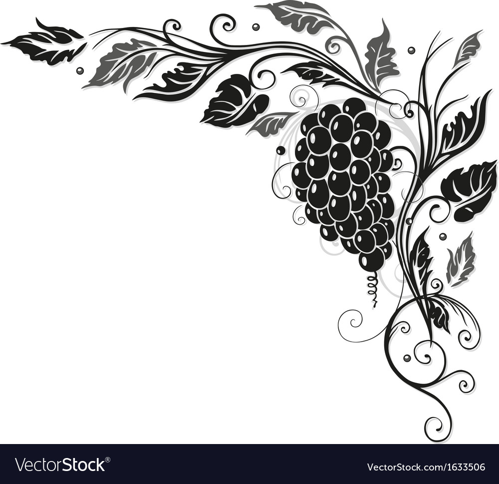 Wine vine border vector | Price: 1 Credit (USD $1)
