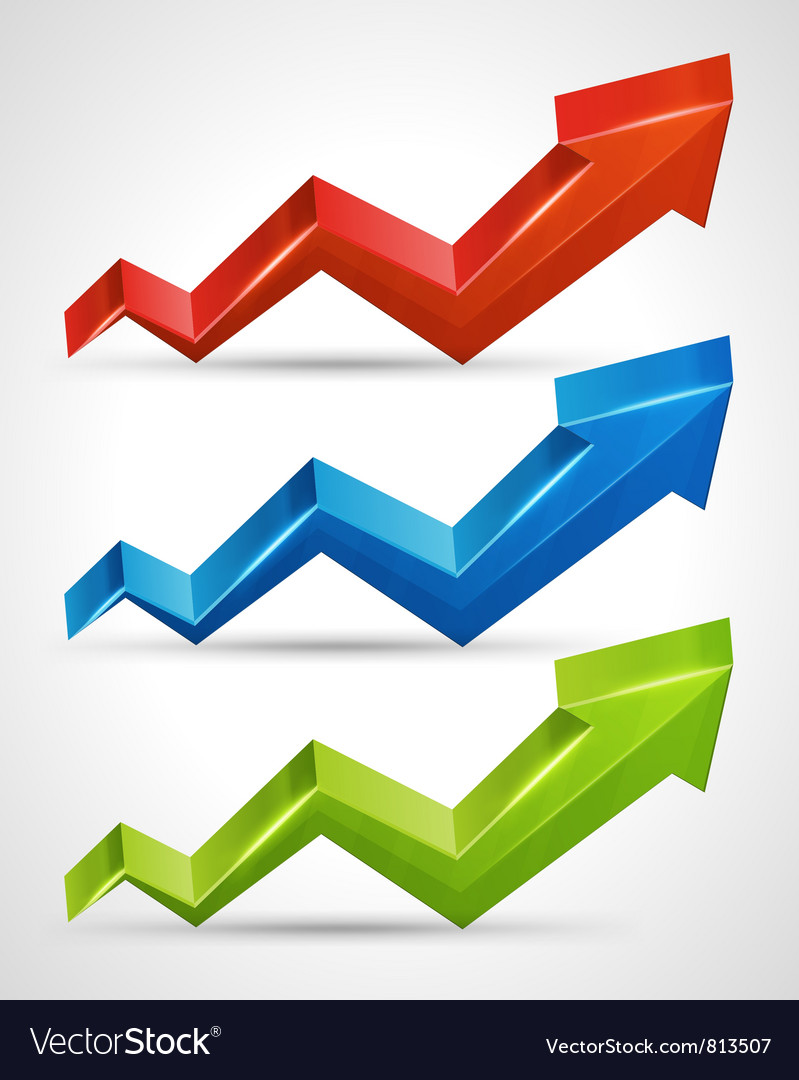3d growth arrow vector | Price: 1 Credit (USD $1)