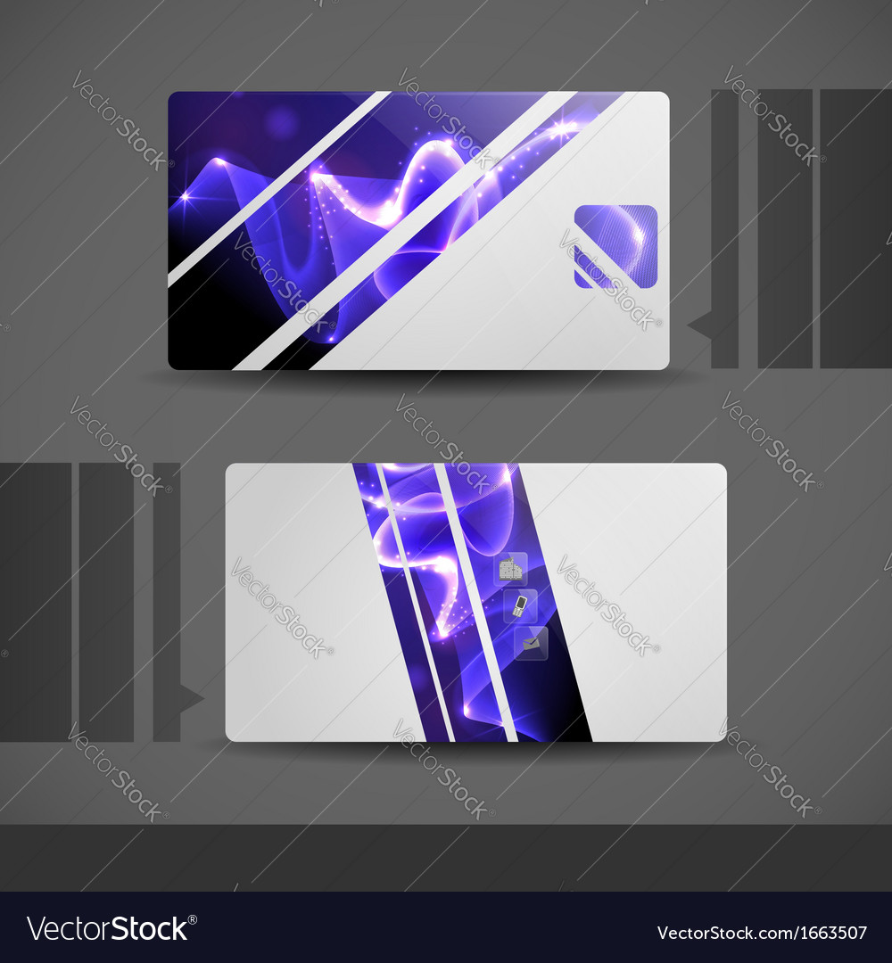 Blue modern business card vector | Price: 1 Credit (USD $1)