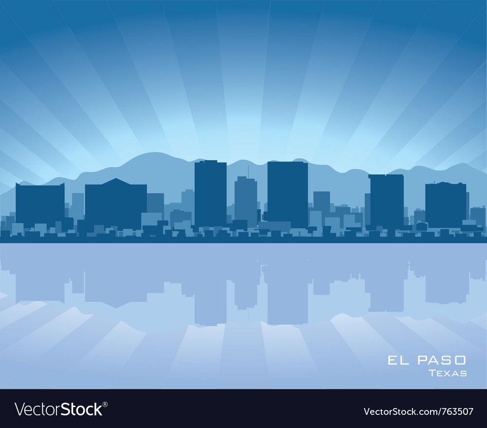 El paso texas skyline vector | Price: 1 Credit (USD $1)