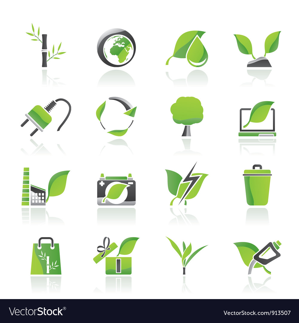 Environment and conservation icons vector | Price: 1 Credit (USD $1)