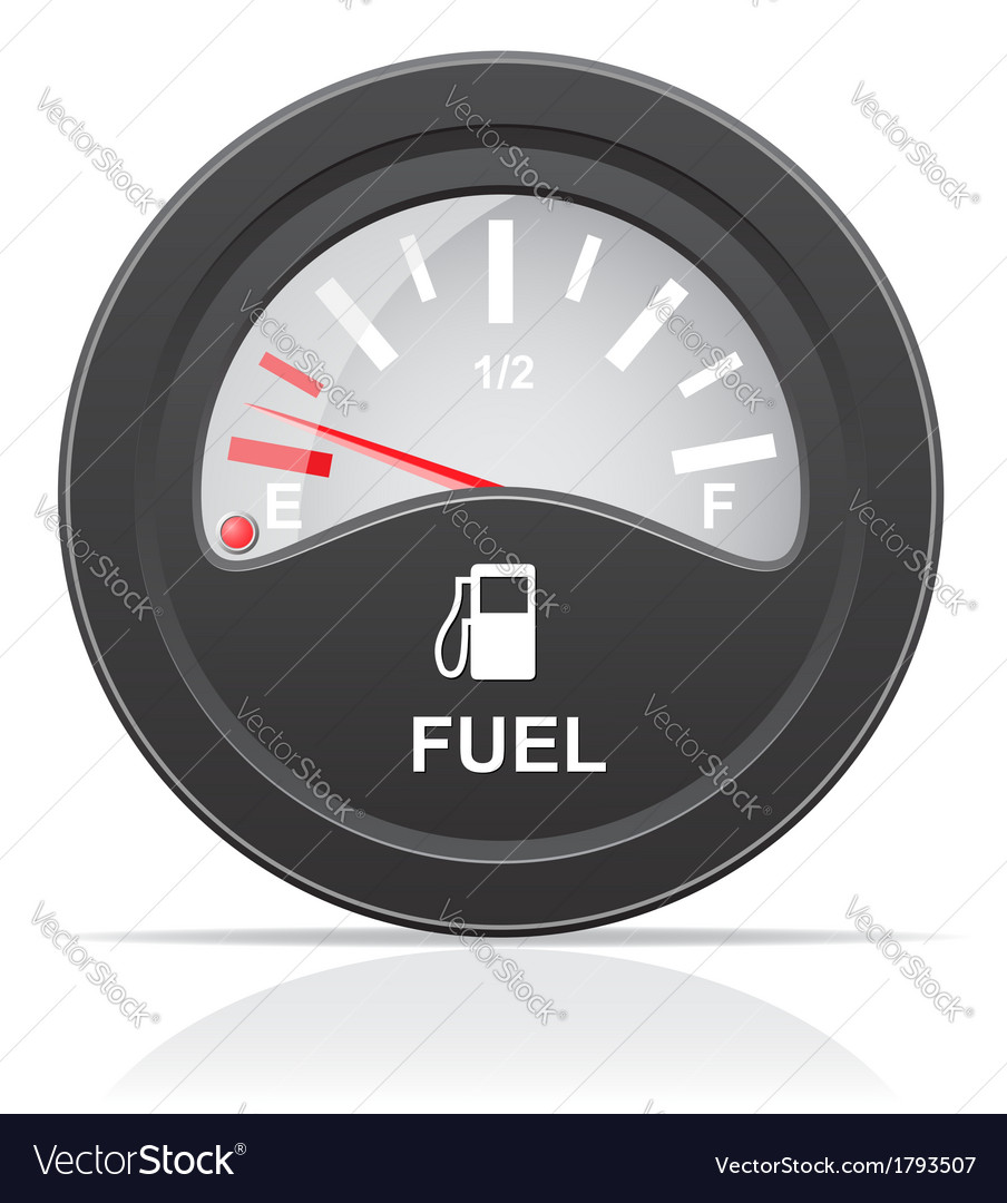 Fuel level indicator vector | Price: 1 Credit (USD $1)