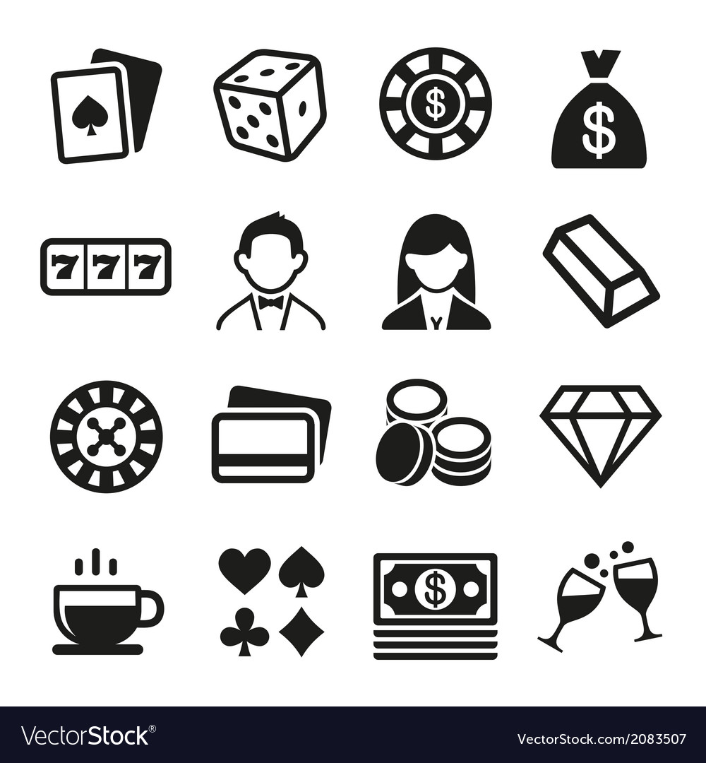 Gambling and casino icons set vector | Price: 1 Credit (USD $1)