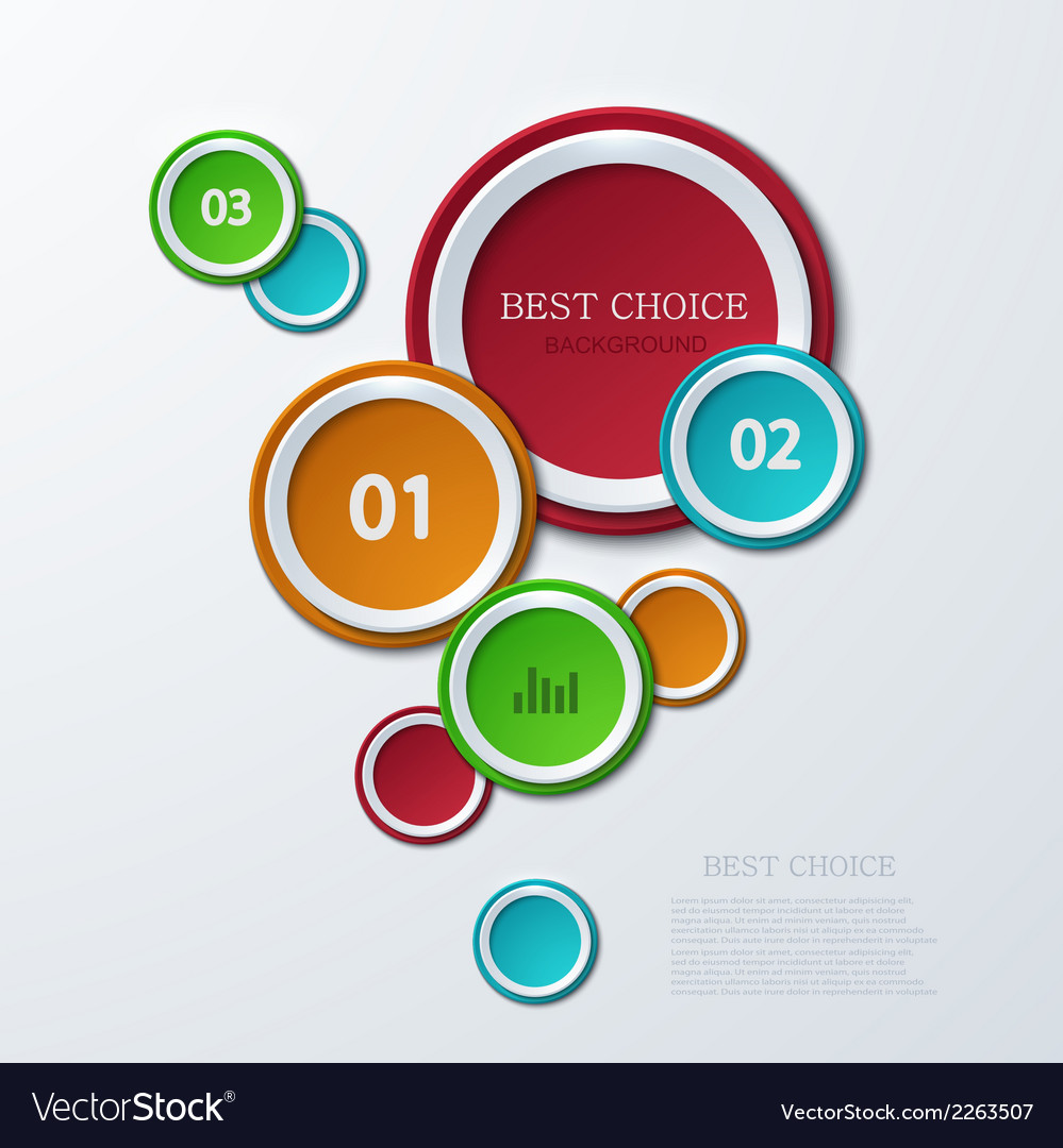 Modern circle infographics background vector | Price: 1 Credit (USD $1)