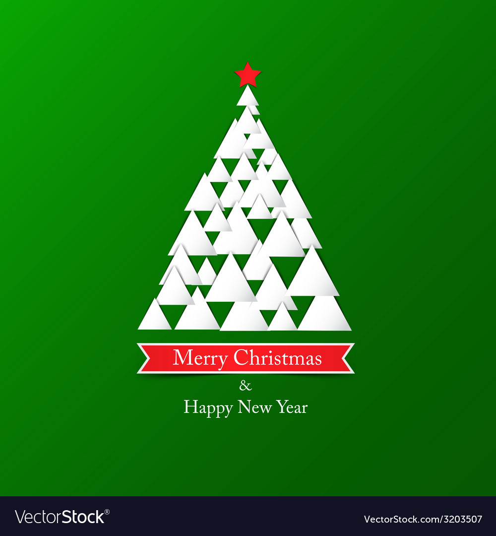 Paper christmas card vector   Price: 1 Credit (USD $1)