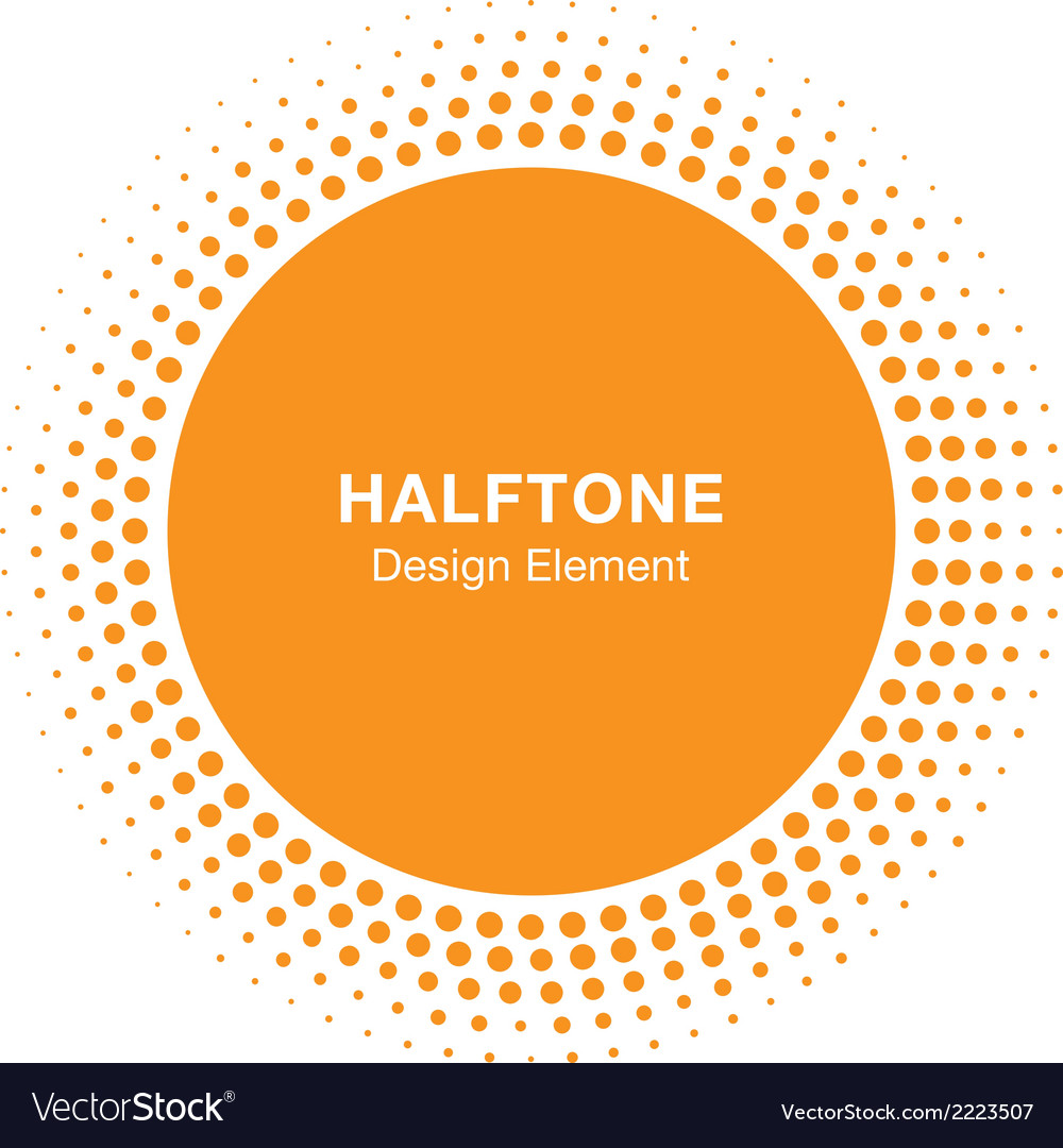 Sunny halftone design element vector | Price: 1 Credit (USD $1)