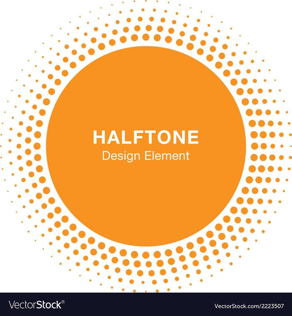 Sunny halftone design element vector | Price: 1 Credit (USD $1)