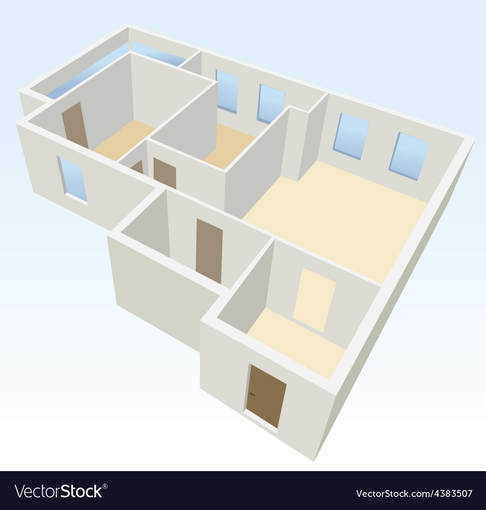 White empty flat planning vector | Price: 1 Credit (USD $1)