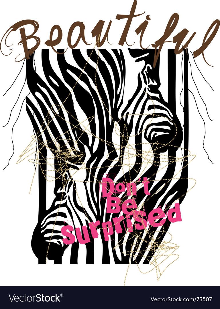 Zebra design vector | Price: 1 Credit (USD $1)