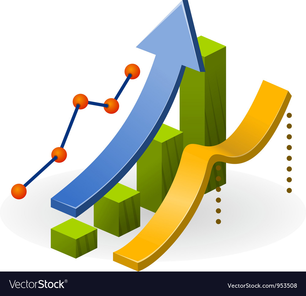 Business performance chart vector | Price: 1 Credit (USD $1)