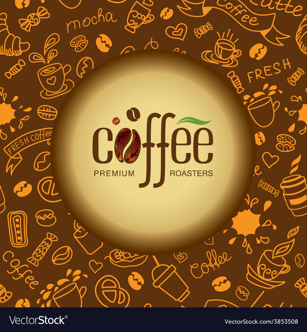 Coffee and tea background for packing vector | Price: 1 Credit (USD $1)
