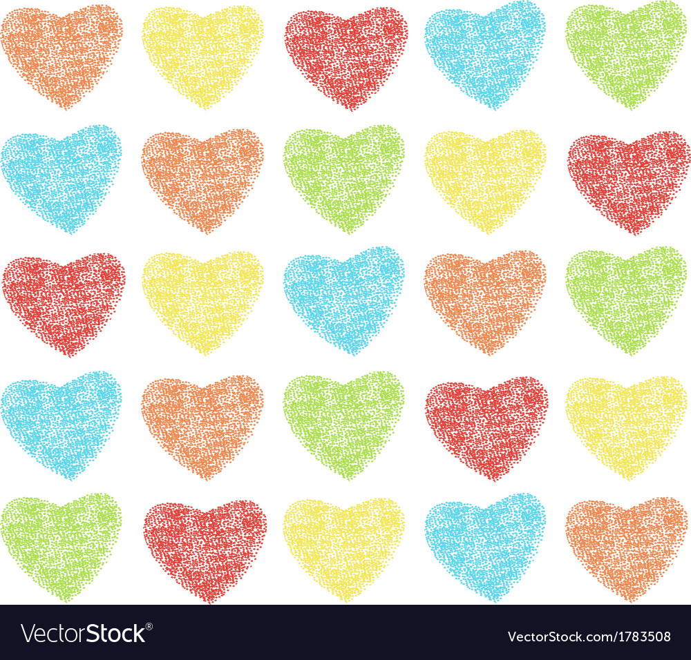 Hearts pattern vector | Price: 1 Credit (USD $1)