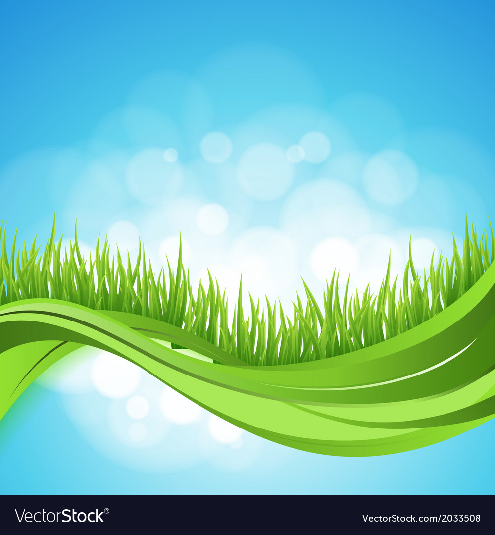 Nature ackground abstract backdrop with green gra vector   Price: 1 Credit (USD $1)