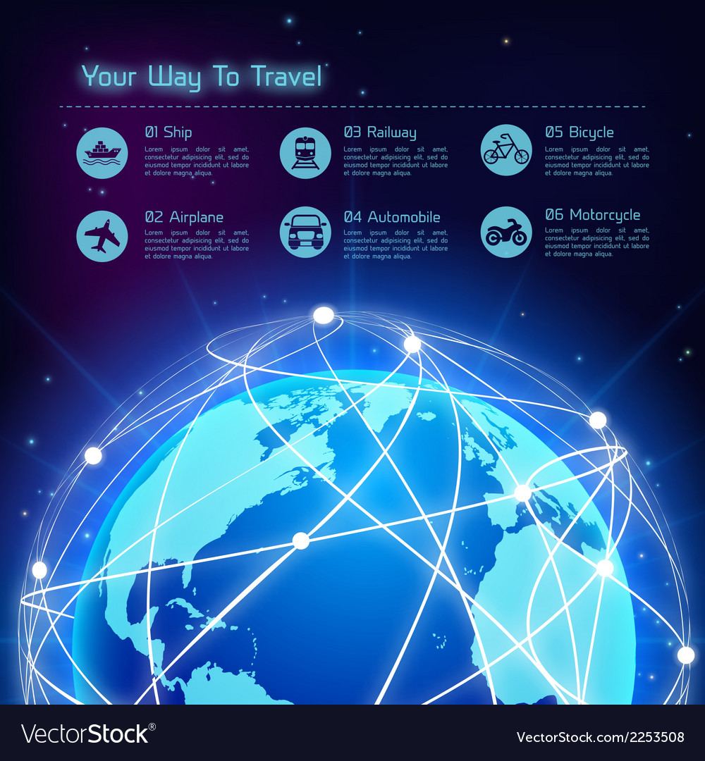 Network travel background vector | Price: 1 Credit (USD $1)