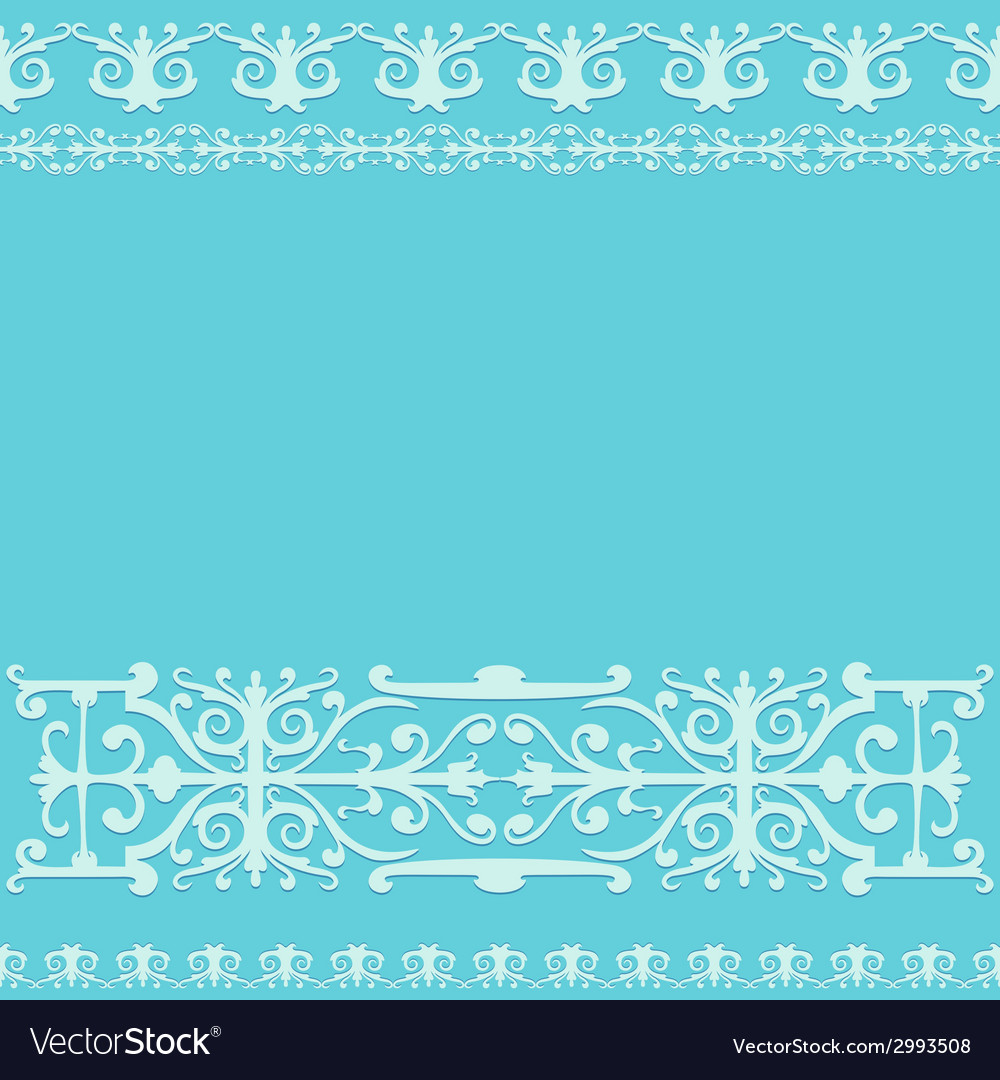 Ornament blue vintage background vector | Price: 1 Credit (USD $1)