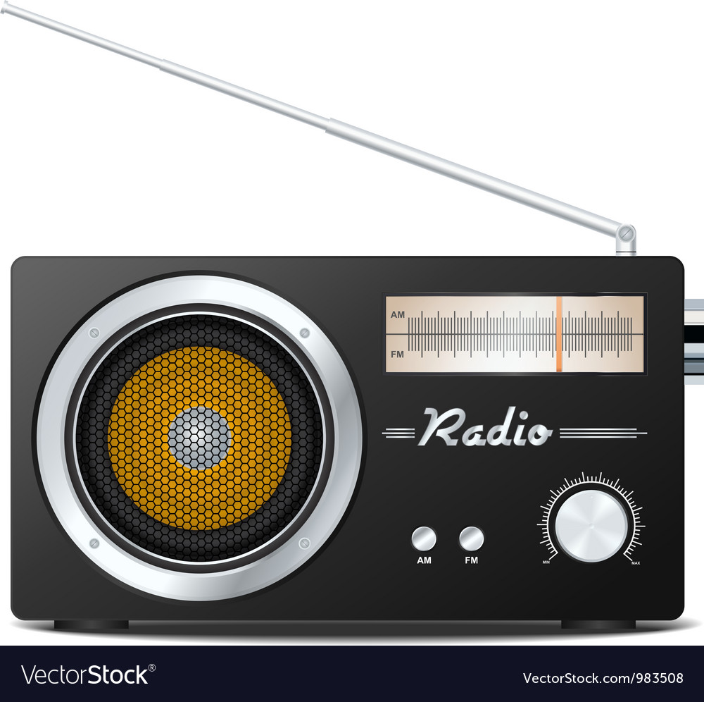 Retro radio vector | Price: 3 Credit (USD $3)