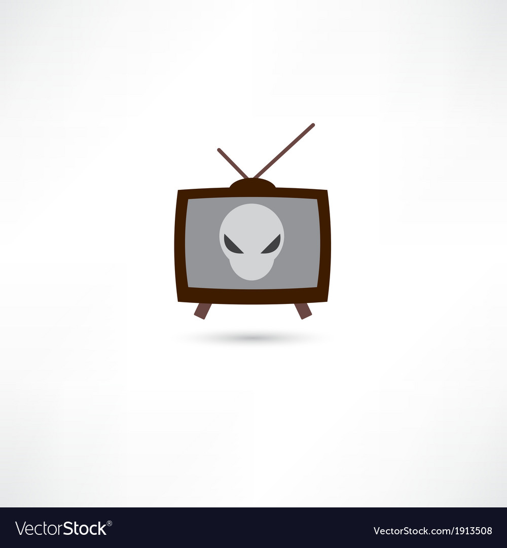 Science fiction on tv vector | Price: 1 Credit (USD $1)