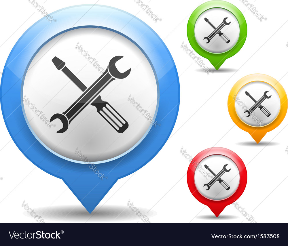 Screwdriver and wrench icon vector | Price: 1 Credit (USD $1)
