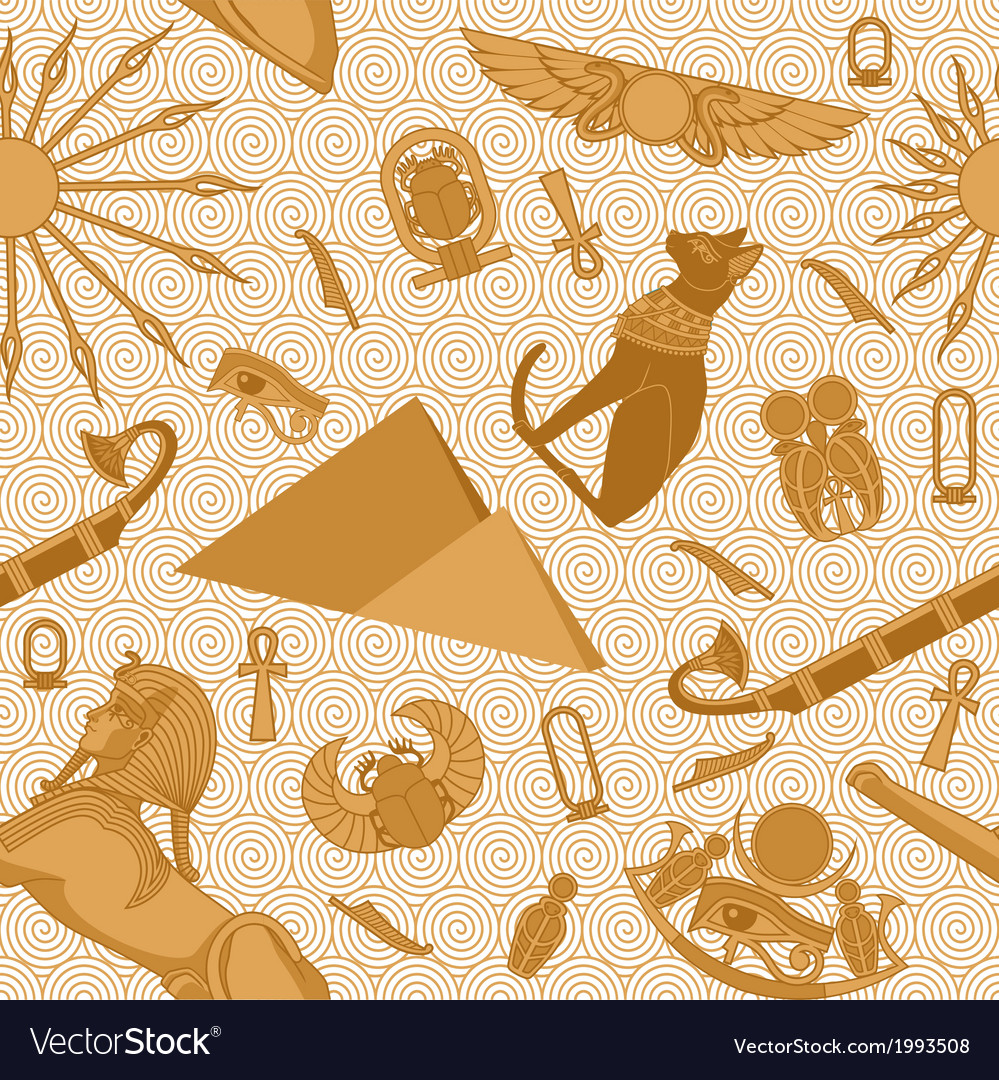 Seamless egypt pattern vector | Price: 1 Credit (USD $1)