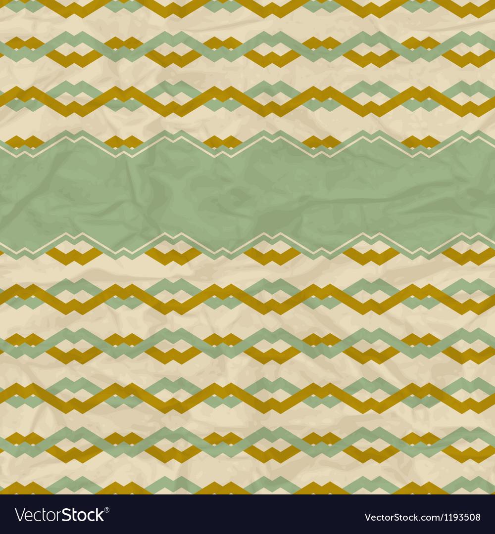 Seamless retro geometric pattern vector | Price: 1 Credit (USD $1)