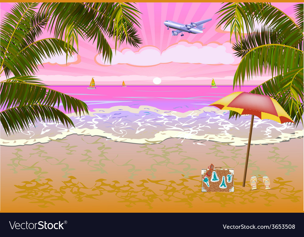 Summer vacation and travel design vector | Price: 1 Credit (USD $1)