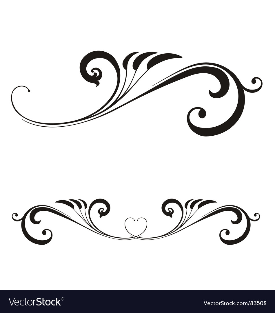 Valentines day scroll vector | Price: 1 Credit (USD $1)