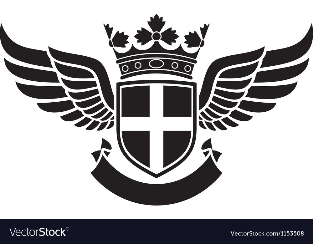 Wings -coat of arms vector | Price: 1 Credit (USD $1)